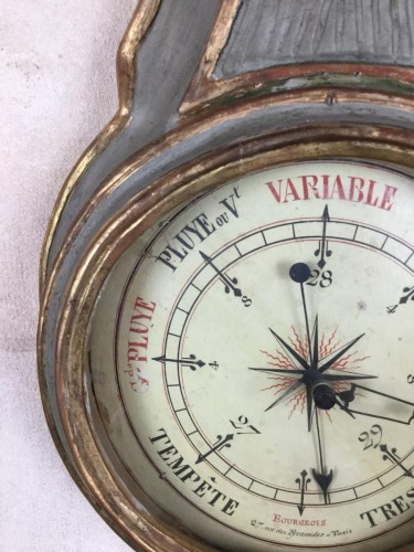 Antiquités - Neoclassical Barometer Louis XVI Last Decade Of The 18th Century.