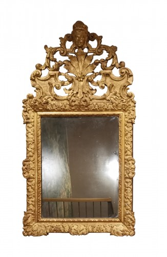 A giltwood Louis XIV period mirror 17th century circa 1680.