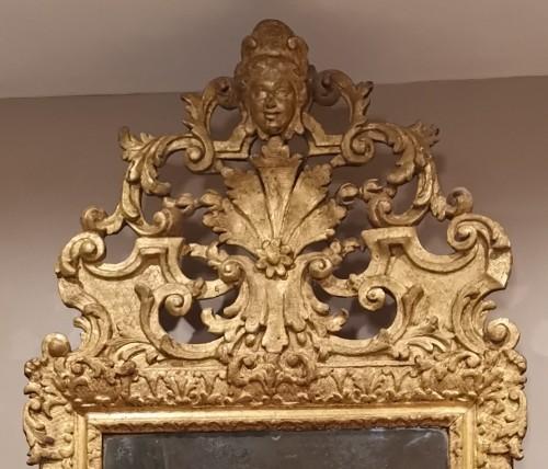 Mirrors, Trumeau  - A giltwood Louis XIV period mirror 17th century circa 1680.