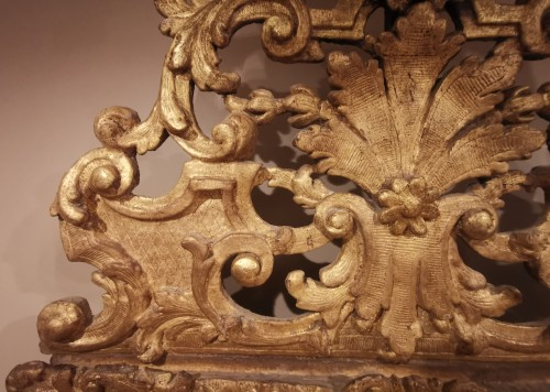 A giltwood Louis XIV period mirror 17th century circa 1680. -