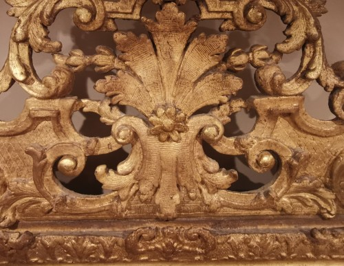 17th century - A giltwood Louis XIV period mirror 17th century circa 1680.