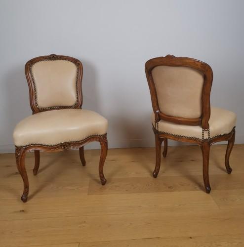 A Louis XV set of four chairs, mid 18th century, circa 1750 - Louis XV