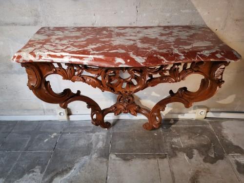 Furniture  - A Louis XV console mid 18th century circa 1745-1750