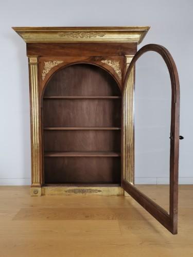 Furniture  - A Louis XVI giltwood showcase (vitrine) late