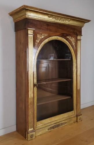 18th century - A Louis XVI giltwood showcase (vitrine) late