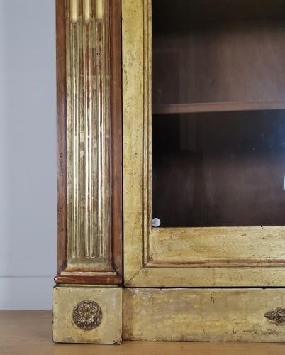 Antiquités - A Louis XVI giltwood showcase (vitrine) late