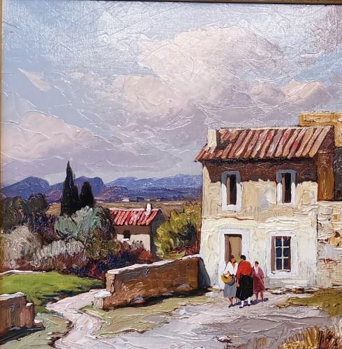 20th century - Gustave Vidal (1895-1966) - Provençal Landscape