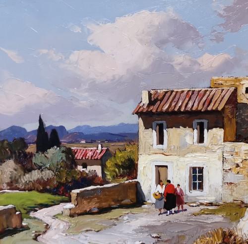 Art Déco - Gustave Vidal (1895-1966) - Provençal Landscape