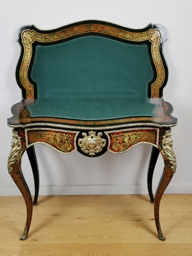 A Napoleon III, game console table in Boulle marquetry mid 19th century. - Napoléon III
