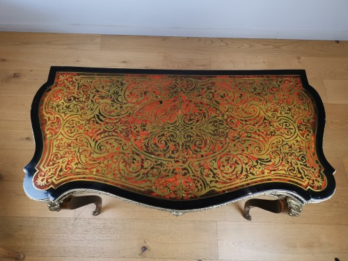 Antiquités - A Napoleon III, game console table in Boulle marquetry mid 19th century.