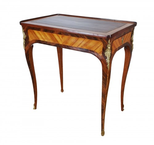 "A Louis XV marquetry table, known as ""à billets doux"" 18th century."