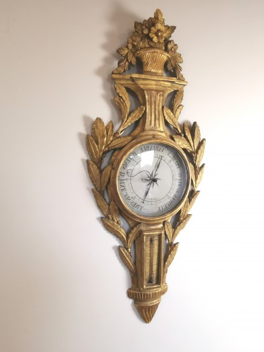 A Louis XVI barometer thermometer circa 1776-1780 - Decorative Objects Style Louis XVI