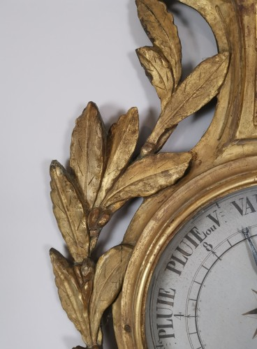 Decorative Objects  - A Louis XVI barometer thermometer circa 1776-1780