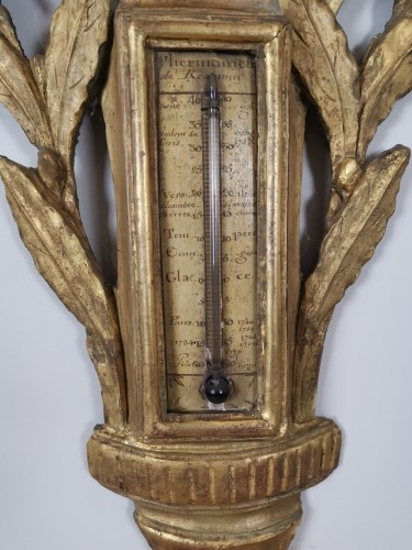 Antiquités - A Louis XVI barometer thermometer circa 1776-1780