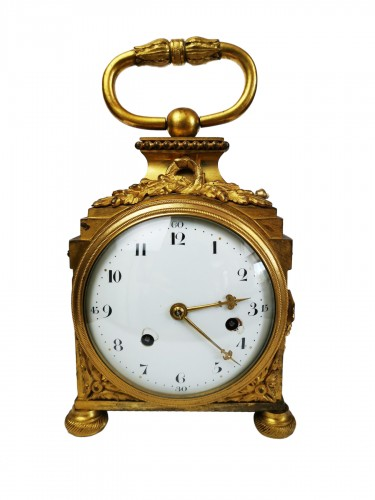 A Louis XVI ormoulu officer's clocks lat-18th circa 1780.