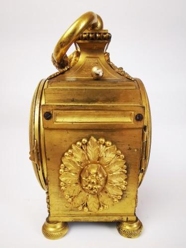 A Louis XVI ormoulu officer's clocks lat-18th circa 1780. - Clocks Style Louis XVI