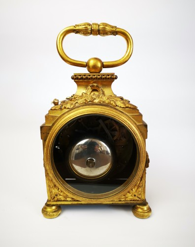 Clocks  - A Louis XVI ormoulu officer's clocks lat-18th circa 1780.
