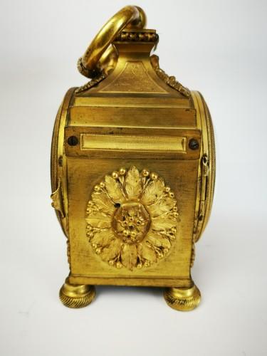 A Louis XVI ormoulu officer's clocks lat-18th circa 1780. -