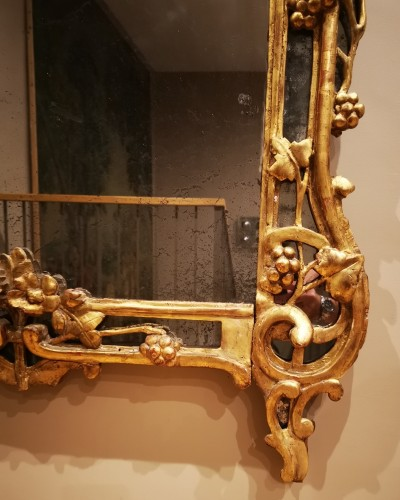 Antiquités - A Louis XV giltwood mirror from Provence