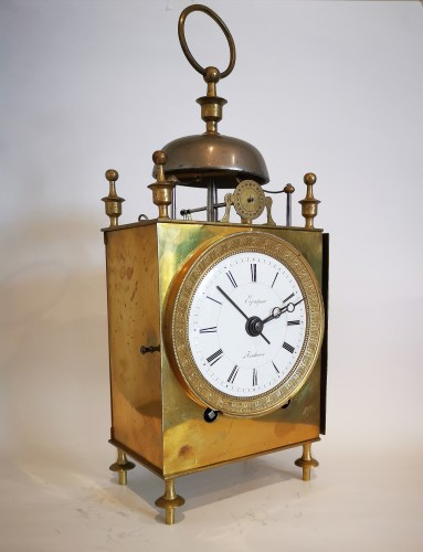 A Empire Officer's travel clock Called Capucine early 19th  circa 1800 - Horology Style Empire