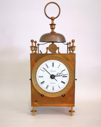 Horology  - A Empire Officer's travel clock Called Capucine early 19th  circa 1800