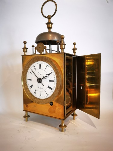 A Empire Officer's travel clock Called Capucine early 19th  circa 1800 -