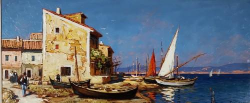 Gustave Vidal (1895-1966)  - Fisherman's house on the pond of Biguglia Corse.
