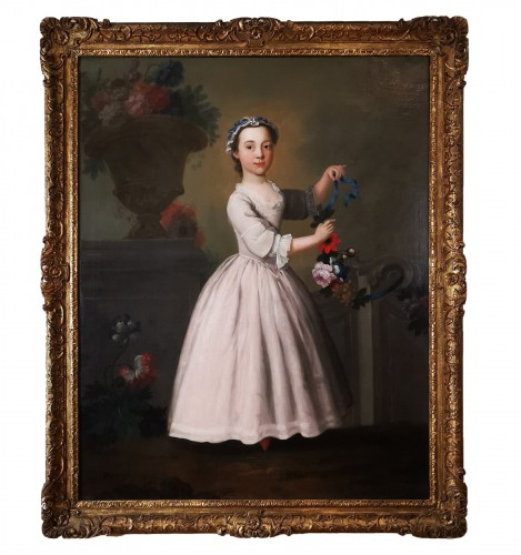 The girl with the garland of flowers -  Late 18th Circa 1770 - 1780