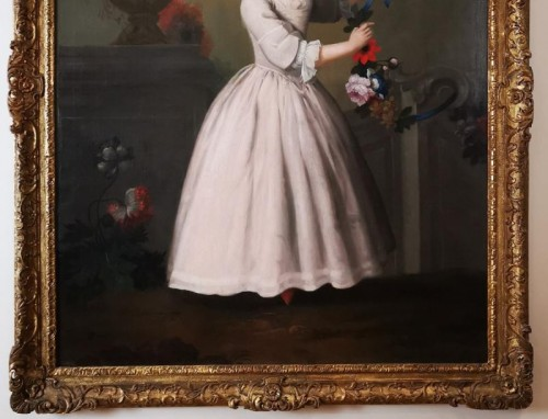 Paintings & Drawings  - The girl with the garland of flowers -  Late 18th Circa 1770 - 1780