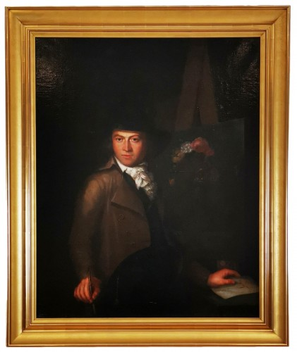Self-portrait in chiaroscuro mid 18th century circa 1770-1780