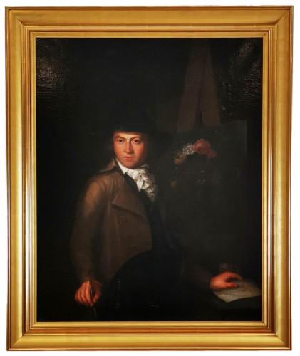 Self-portrait in chiaroscuro mid 18th century circa 1770-1780