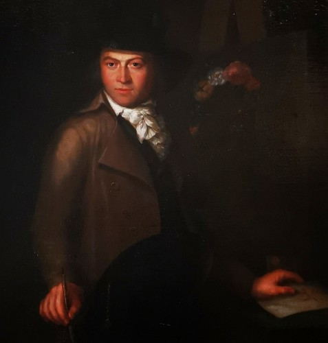 Paintings & Drawings  - Self-portrait in chiaroscuro mid 18th century circa 1770-1780