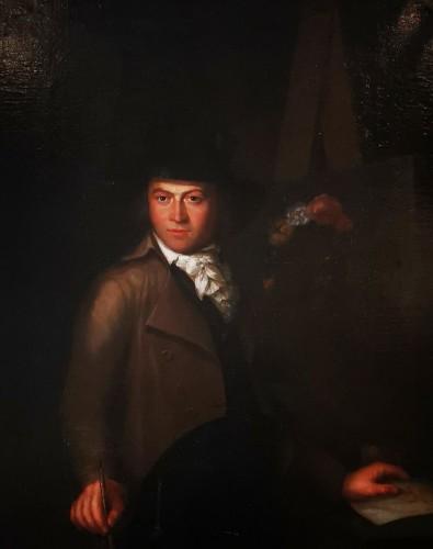 Self-portrait in chiaroscuro mid 18th century circa 1770-1780 -