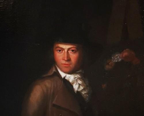 18th century - Self-portrait in chiaroscuro mid 18th century circa 1770-1780