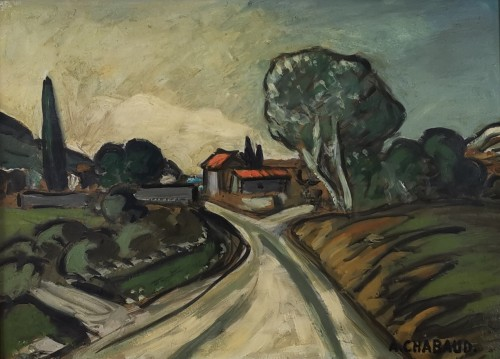 Auguste CHABAUD 1882 - 1955 - The path to the farmhouse - Paintings & Drawings Style Art nouveau