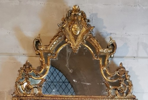 A Regence mirror, early 18th century - Mirrors, Trumeau Style French Regence