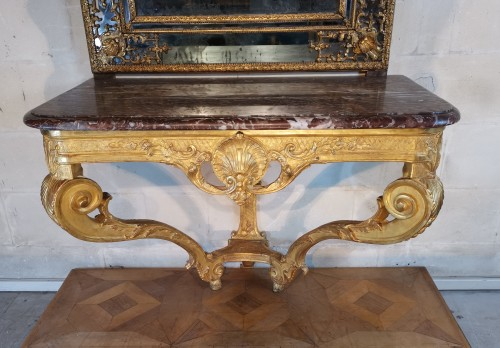 Furniture  - A Régence giltwood console early 18th century circa 1715 - 1720