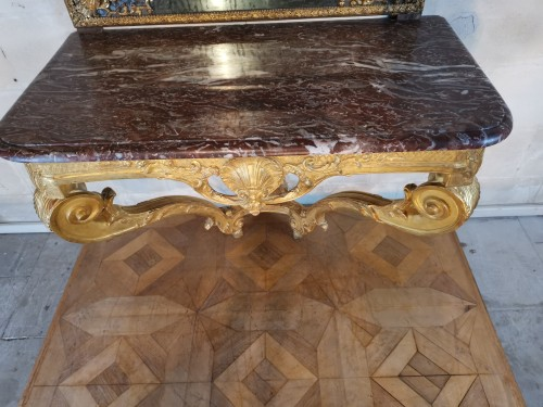 18th century - A Régence giltwood console early 18th century circa 1715 - 1720