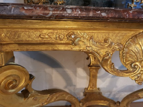 French Regence - A Régence giltwood console early 18th century circa 1715 - 1720
