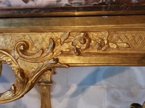 Antiquités - A Régence giltwood console early 18th century circa 1715 - 1720