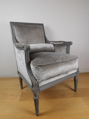 Seating  - A Louis XVI Bergère stamped Jean Baptiste Claude Sené