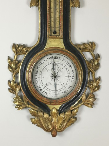 arometer-thermometer of the Louis XVI period  - Decorative Objects Style Louis XVI