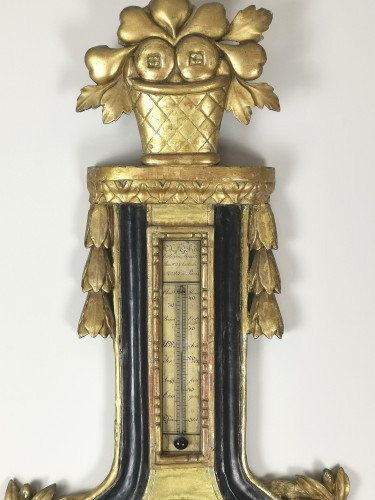 Decorative Objects  - arometer-thermometer of the Louis XVI period