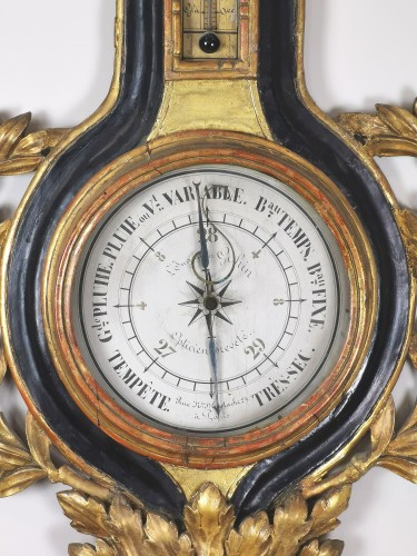 18th century - arometer-thermometer of the Louis XVI period