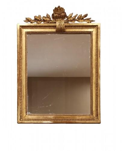 A giltwood mirror irca 1780