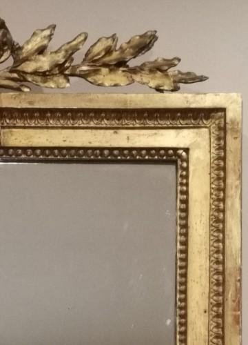 Louis XVI - A giltwood mirror irca 1780