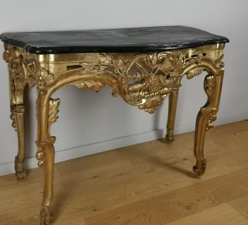 Furniture  - A Giltwood console Louis XVI console circa 1781