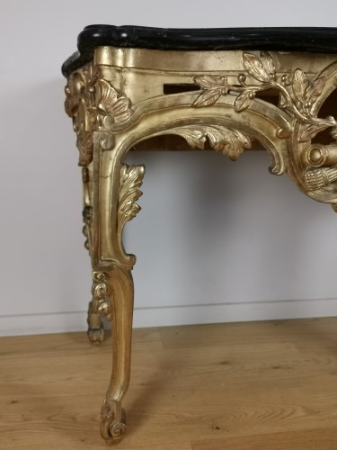Antiquités - A Giltwood console Louis XVI console circa 1781
