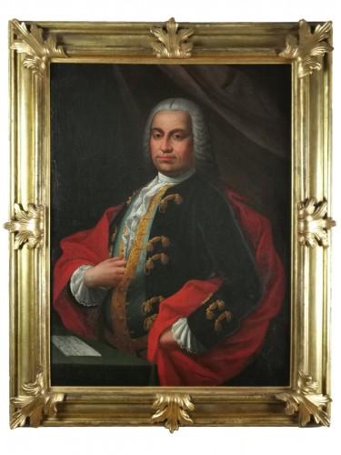 Don Franco Billo-tta - Portrait of a noble magistrate Pavesan Lombardy 18th