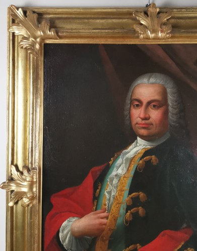Paintings & Drawings  - Don Franco Billo-tta - Portrait of a noble magistrate Pavesan Lombardy 18th